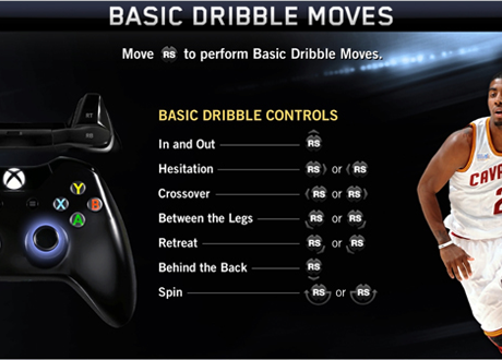 Basic Dribble Moves in NBA Live 14