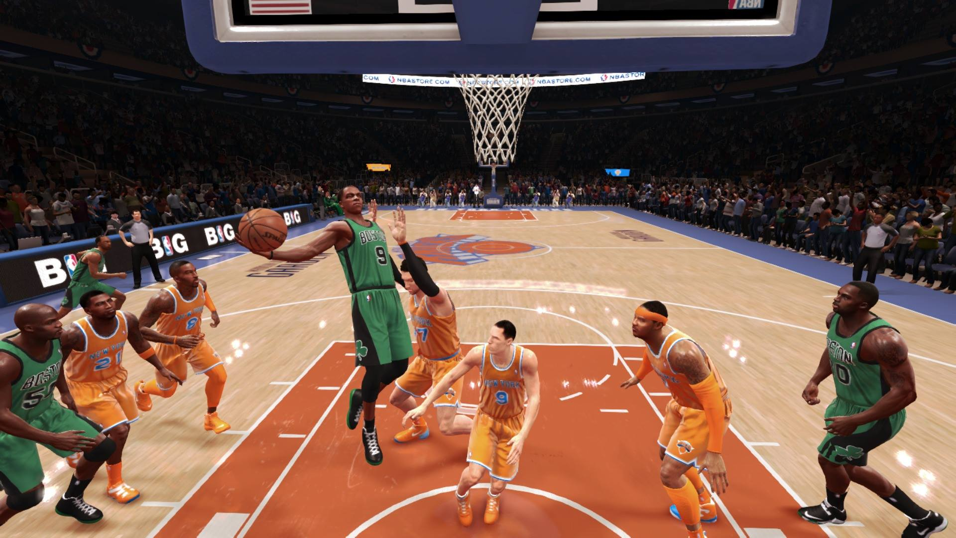 NBA Live 14 Rondo Layup