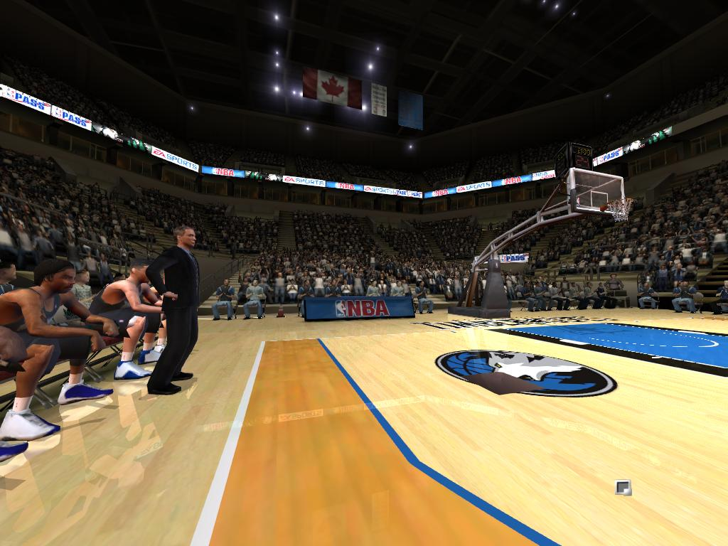 Target Center Ceiling NBA Live 2005 PC