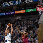 Dirk Nowitzki fires away against the Cavaliers in NBA 2K14 PC