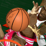 The new Adam Silver basketball in NBA 2K14 PC