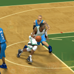 Rajon Rondo drives against the Magic in NBA 2K14 PC