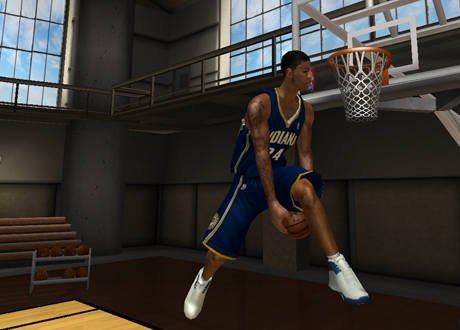 Paul George goes between-the-legs twice in NBA Live 08 PC