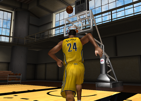 Paul George with the lob in NBA Live 08 PC