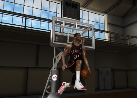 Terrence Ross with the 360 between-the-legs in NBA Live 08 PC
