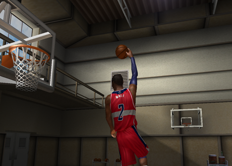 John Wall with the 720 dunk in NBA Live 08 PC
