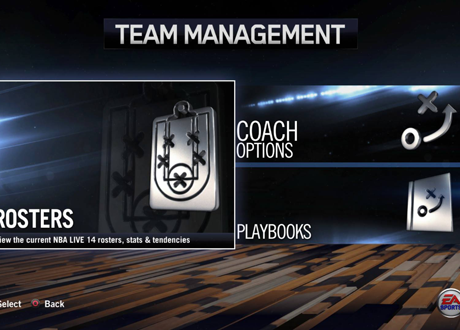 Team Management Options in NBA Live 14