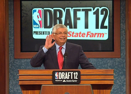 David Stern at the 2012 NBA Draft