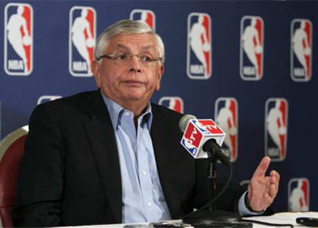 David Stern during the 2011 lockout