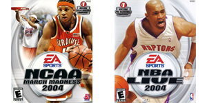 NCAA March Madness and NBA Live 2004