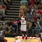 Jimmy Butler fires away against the Heat in NBA 2K14 PC