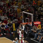 LeBron James dunks against the Nuggets in NBA 2K14 PC