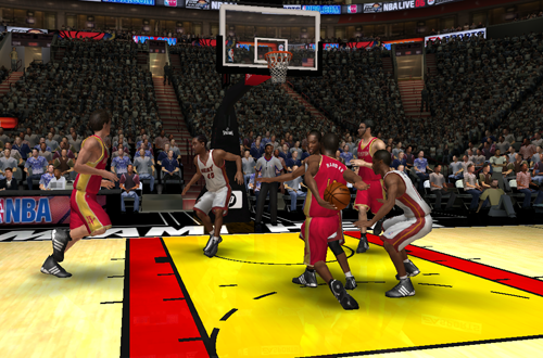 James Harden goes behind the back in NBA Live 06