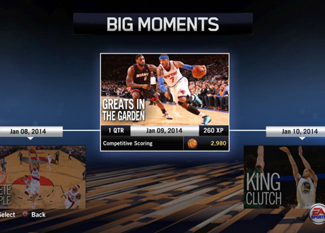 """Greats in the Garden"" BIG Moment in NBA Live 14"