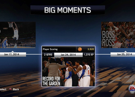 """Record for the Garden"" BIG Moment in NBA Live 14"
