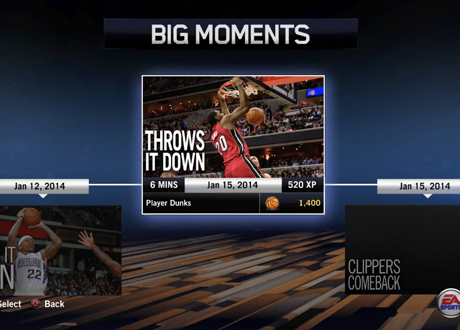 """Throws it down"" BIG Moment in NBA Live 14"