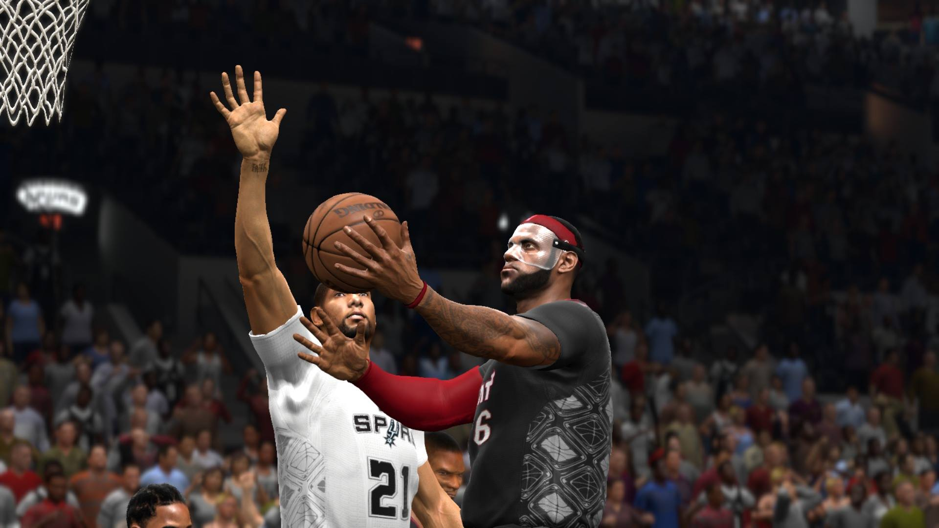 Masked LeBron James in NBA Live 14
