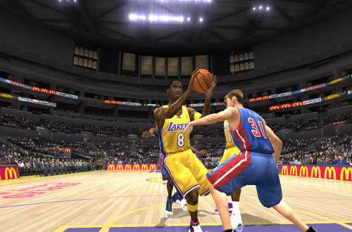 Kobe Bryant with the pro-hop in NBA Live 2004