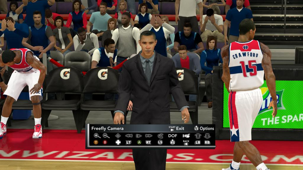 Obama Coach in NBA 2K12
