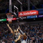 Tim Duncan with the layup in NBA 2K14 PC