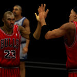 MJ and Pip in the He's on Fire 2K14 mod for NBA 2K14 PC