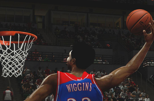 Andrew Wiggins in the March Madness 2K14 mod for NBA 2K14 PC