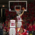 Joakim Noah makes the layup against the Wizards in NBA 2K14 PC