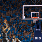 Tony Parker floats it up and in against the Mavericks in NBA 2K14 PC