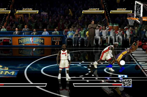 Backboard Smash in NBA Jam