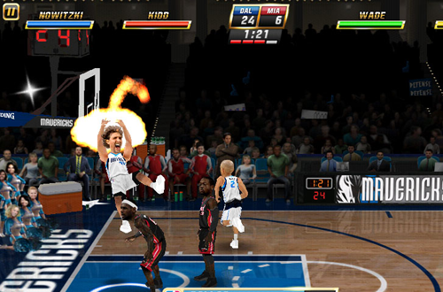 On Fire in NBA Jam