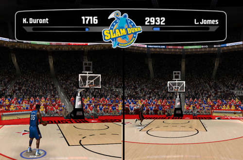 Slam Dunk Showdown in NBA Live 08