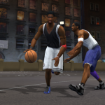 Tracy McGrady and Kobe Bryant go one-on-one in NBA Live 2003