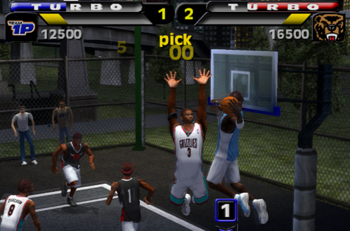 Michael Jordan with the dunk in NBA Street