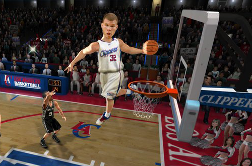 Blake Griffin in NBA Jam: On Fire Edition