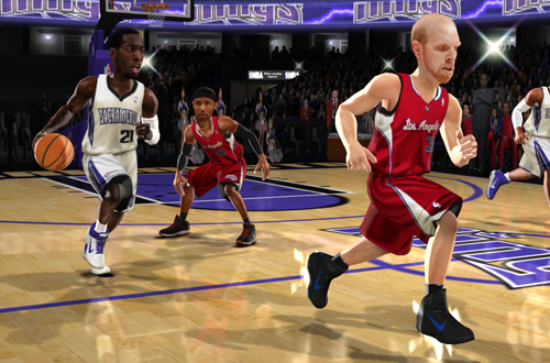 Kings vs. Clippers in NBA Jam: On Fire Edition