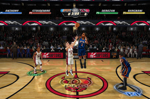 Knicks vs. Raptors in NBA Jam: On Fire Edition