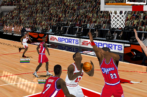 Elton Brand and Lamar Odom in NBA Live 2000 PC