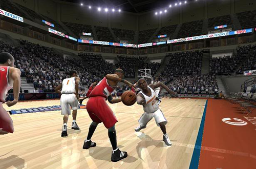 Brevin Knight steals the ball in The X's NBA Live 2005 Dynasty