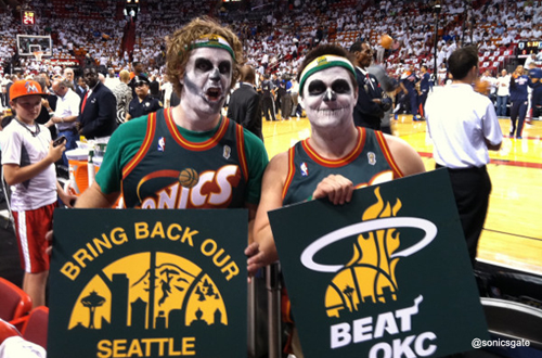 Zombie Seattle Supersonics Fans