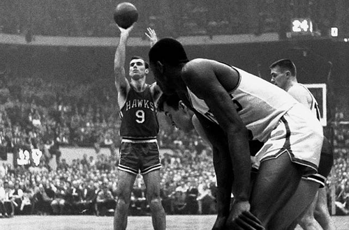 Bob Pettit in the 1957 NBA Finals