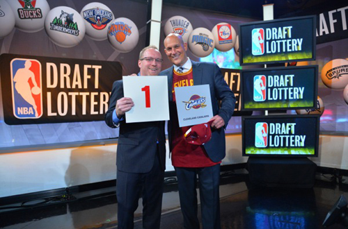 The Cavaliers win the 2014 NBA Draft Lottery