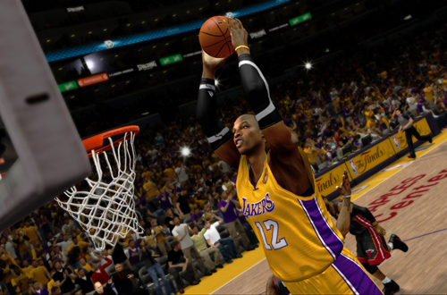 Dwight Howard dunks in NBA 2K13
