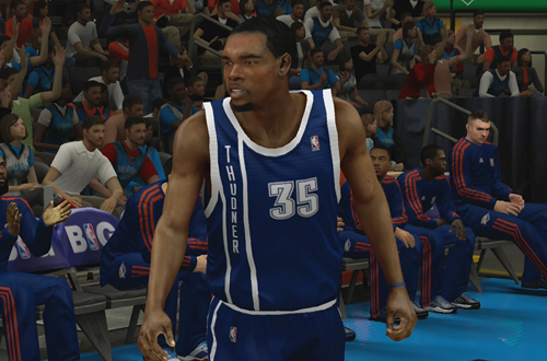 "Oklahoma City Thunder Misspelled ""Thudner"" Alternate Jersey in NBA 2K13"