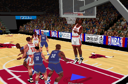 Scottie Pippen dunks in NBA Action '98