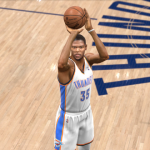 Kevin Durant takes a jumpshot in NBA Live 14