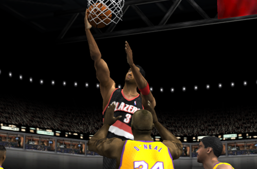 Scottie Pippen on the Portland Trail Blazers in NBA Live 2002