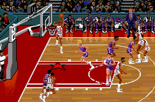 Michael Jordan dunks in NBA Showdown