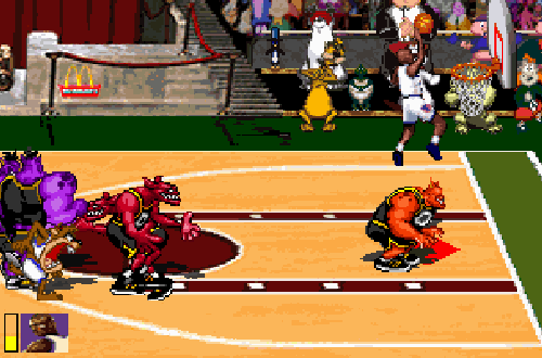 Michael Jordan in Space Jam, the video game