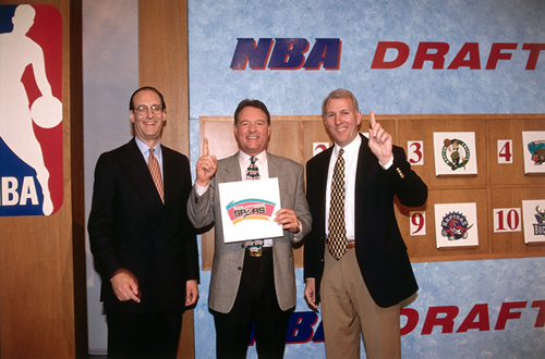 The Spurs win the 1997 NBA Draft Lottery