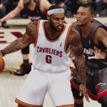 LeBron James on the Cleveland Cavaliers in UBR V17 for NBA 2K14 PC